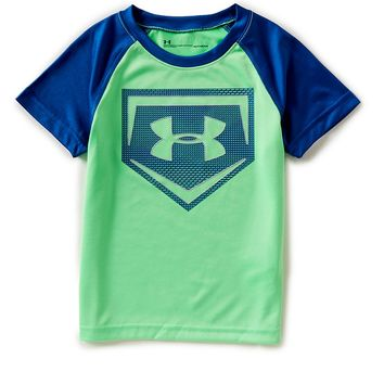 Under Armour Little Boys 2T-7 Short-Sleeve Metallic Sync Tee | Dillards