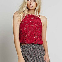 Free People Womens Dewa Cutwork Strappy Tank