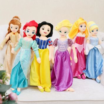 New 65cm 1/3 Dolls for Girls Gift Plush Toy Aurora Snow White Cinderella Mermaid Princess Doll Rapunzel Belle Brinquedos Toys