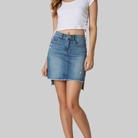 Shades Of Denim Mini Skirt