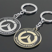 Game Overwatch Keychain Tracer Reaper OW key Chains Entertainment Logo Key Ring Holder