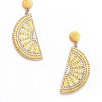 Lemon Statement Earrings