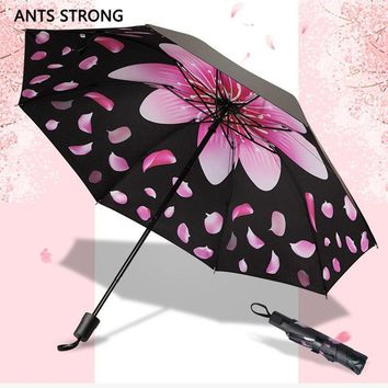 ANTS STRONG Windproof reverse folding flower umbrella/new fashion lady parasols vinyl strong colourful rain umbrella