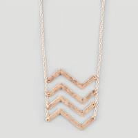 Full Tilt Moving Chevron Statement Necklace Gold One Size For Women 21408262101