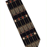 Frank Lloyd Wright Tree of Life Glass Design Silk Tie 3
