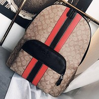 COACH Fashion New Pattern Print Women Men Book Bag Backpack Bag Handbag
