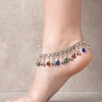 Indian Beads and Bells Anklet