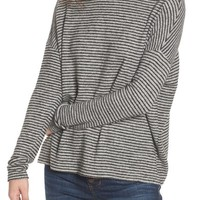 Soprano Stripe Mock Neck Sweater | Nordstrom