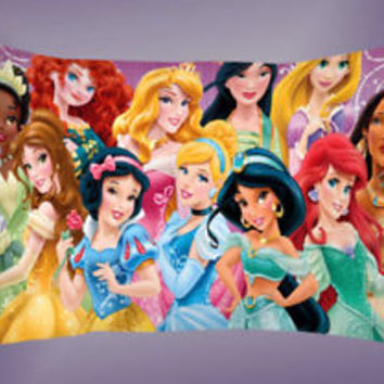 New Disney Movie All Princess Best Pillow Case 16 x 24 20 x 26 2 Side Cover