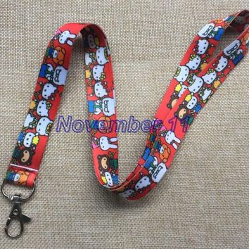 Lot 10Pcs Classic hello kitty Cartoon Mobile Cell Phone Lanyard Neck Straps Party Gifts MM927