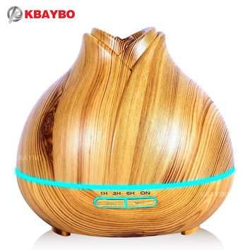 400ml Aroma Essential Oil Diffuser Ultrasonic Air Humidifier purifier with Wood Grain LED
