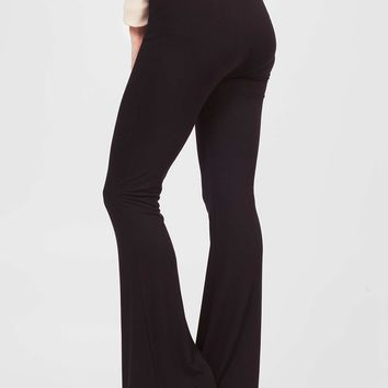 Black High Wasted Flares