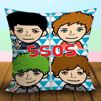 5 seconds of summer Funny Cartoon - Pillow Case, Square and Rectangle One Side/Two Side.