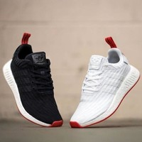 Best Online Sale Adidas NMD R2 Primeknit Boost Sport Running Shoes Classic Casual Shoes Sneakers