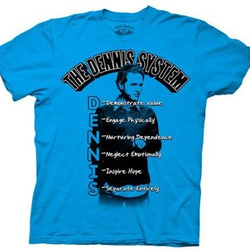 It's Always Sunny in Philadelphia The Dennis System of Seduction Blue Adult T-shirt  - It's Always Sunny In Philadelphia - | TV Store Online