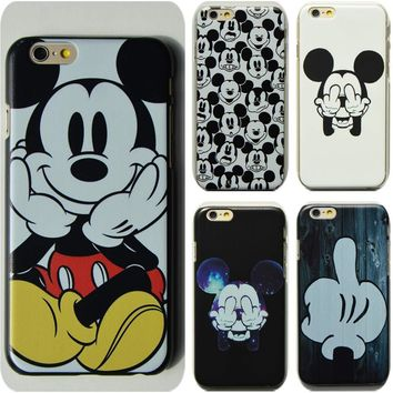 N ew Fashion Cartoon Cute Mickey Mouse Painted Protective Hard Case for iphone 6 6s plus 7 7 plus 4 4S 5 5S SE 5C phone cases