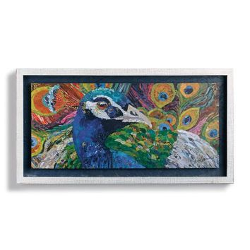 Fine Feathers Peacock Shadow Box Wall Art