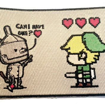 Heart Seeker Classic Movie Video Game Parody - Novelty Iron On Patch Applique