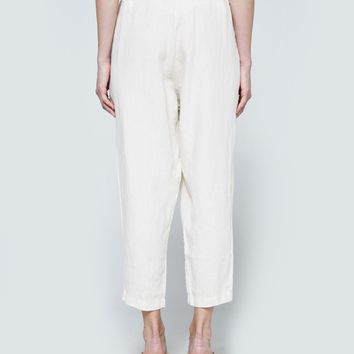 Black Crane / Carpenter Pants in Eggshell