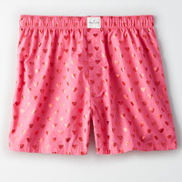 AEO Foil Heart Boxer, Pink