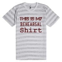 Rehearsal Clothes-Unisex Ash/White Stripe T-Shirt