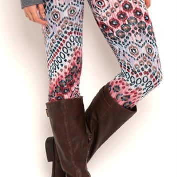 Dotted Chevron Print Leggings