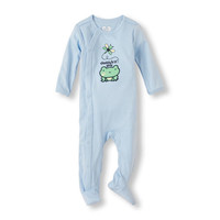 Baby Boys Layette Long Sleeve 'Daddy's Little Guy' Frog Sleep And Play | The Children's Place