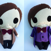 Doctor Who - Matt Smith- The 11th Doctor - 17x10 inches Felt Plush Doll - Comes with TWO outfits!