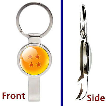 Dragon Ball Z Pendant or Keychain silver tone secret bottle opener