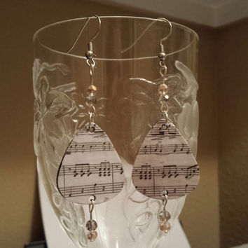 Guitar Pick Jewelry by Betsy's Jewelry - Earrings - Musical Notes - Rocker Style - Music Lover - Upcycled Jewelry