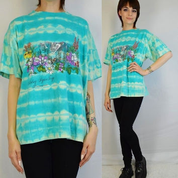 Tie Dye Shirt Soft Grunge Mountain Preppy Hipster Floral Vacation 90s Stripes Women's Vintage Tennessee Shirt