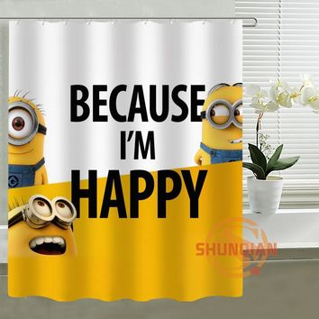Minions custom Shower Curtain Bathroom decor High Quality Bath Curtains for Kids