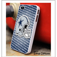 Dallas Cowboys Football Blue White iPhone 4s iPhone 5 iPhone 5s iPhone 6 case, Galaxy S3 Galaxy S4 Galaxy S5 Note 3 Note 4 case, iPod 4 5 Case