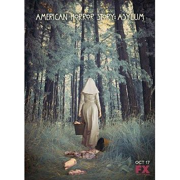 American Horror Story Asylum poster Metal Sign Wall Art 8in x 12in