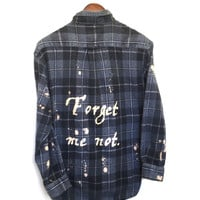 Forget Me Not Shirt in Grey Plaid Flannel
