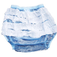 Haian Adult Frilly Plastic Rumba Incontinence Pull-on Plastic Pants P003-6