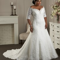 Bonny Unforgettable 1405 Plus Size Wedding Dress