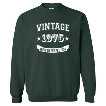 Vintage 1975 Aged To Perfection tshirt - Heavy Blend™ Crewneck Sweatshirt