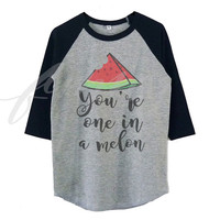 Watermelon tshirt Funny saying raglan shirt for kids toddlers boys girls tops Baby clothes **Halloween shirt