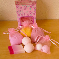 Bath Set 1 (Bath Salt, Soap, Bath Bombs, Fizzy Bath Dust)