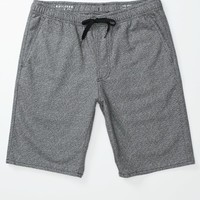 Textured Jogger Shorts - Mens Shorts - Blue