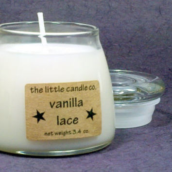 Vanilla Lace Soy Candle Jar - Hand Poured and Highly Scented Container Candles
