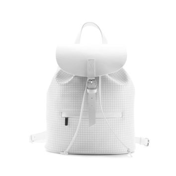 White Leather 'Town Small' Backpack