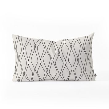 Heather Dutton Fuge Stone Oblong Throw Pillow