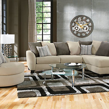 Meridian Springs Beige 2 Pc Sectional