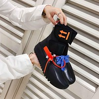 OFF WHITE  Men popular Boots popularable Casual leather Breathable Sneakers Running Shoes