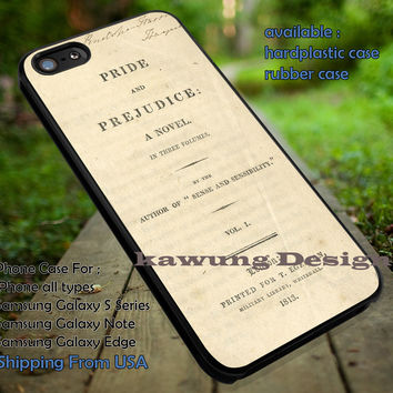 W251-Pride and Prejudice Book Vintage iPhone 6s 6 6s+ 5c 5s Cases Samsung Galaxy s5 s6 Edge+ NOTE 5 4 3 #other dt