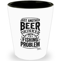 Beer and Fishing Shotglass
