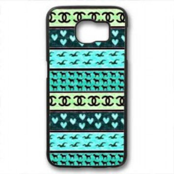 red hollister seagulls chanel sign hearts stripes for samsung galaxy s6 case