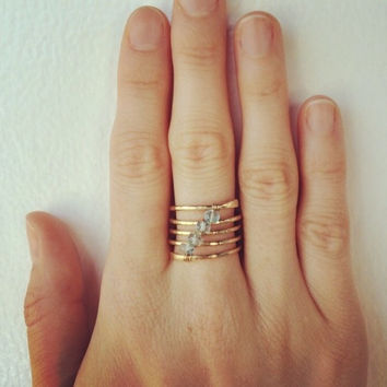 Muse Coil Stone Ring